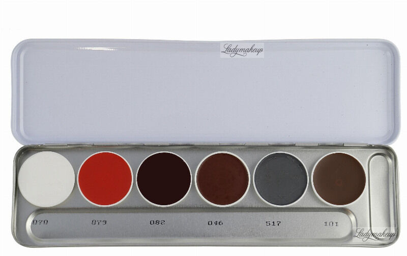 KRYOLAN - SUPRACOLOR - Make-up Palette with 6 colours - Paleta 6 tłustych farb do malowania twarzy - ART. 1007 - S