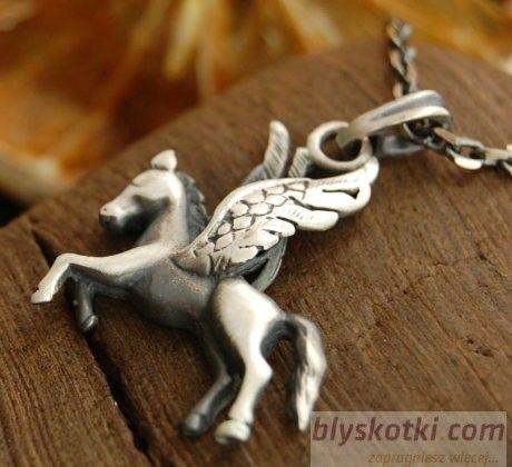 Pegaz ii - srebrny wisiorek