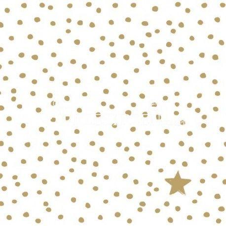 SERWETKI PAPIEROWE - Złote kropki i gwiazdka
