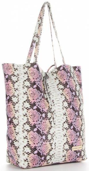 Torebki Skórzane ShopperBag w motyw węża firmy VITTORIA GOTTI Różowa (kolory)