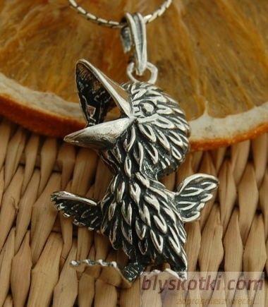 Wielki ptak - srebrny wisiorek