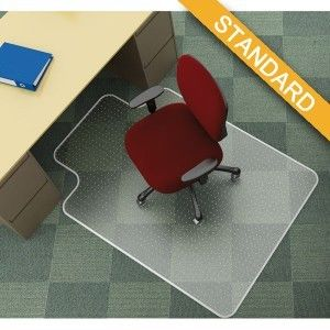 Mata pod krzesło Q-Connect, na dywany, 134x115cm, kształt T /KF02256/