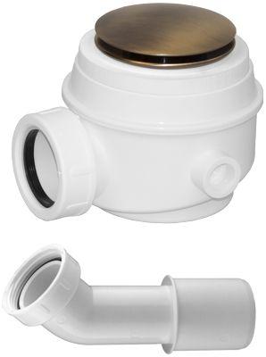 Omnires Syfon brąz antyczny brodzikowo-wannowy do brodzików z otworem 50 mm i wanien bez przelewu WB01XBR