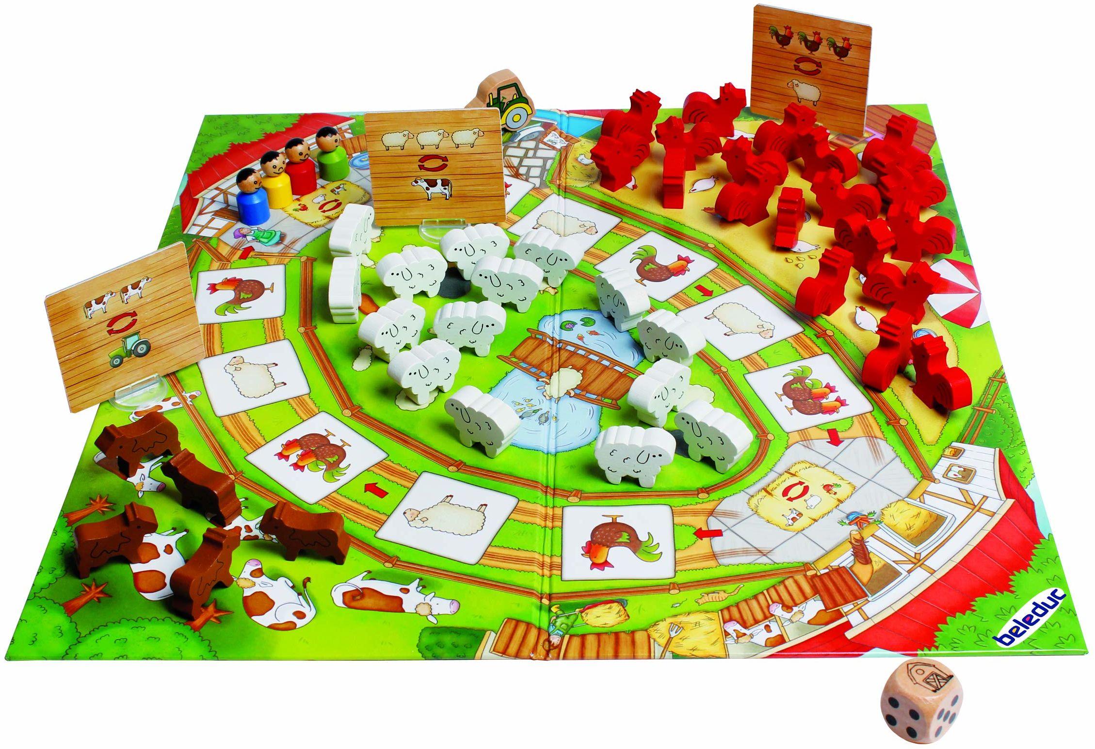 Beleduc 22710 Happy Farm gra dla dzieci i rodzinna