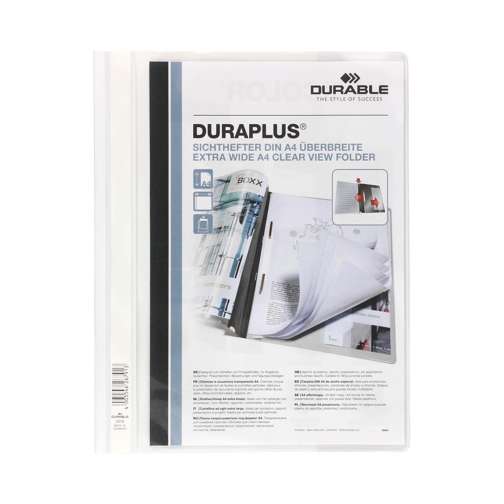 Skoroszyt prezentacyjny A4/PP biały Durable