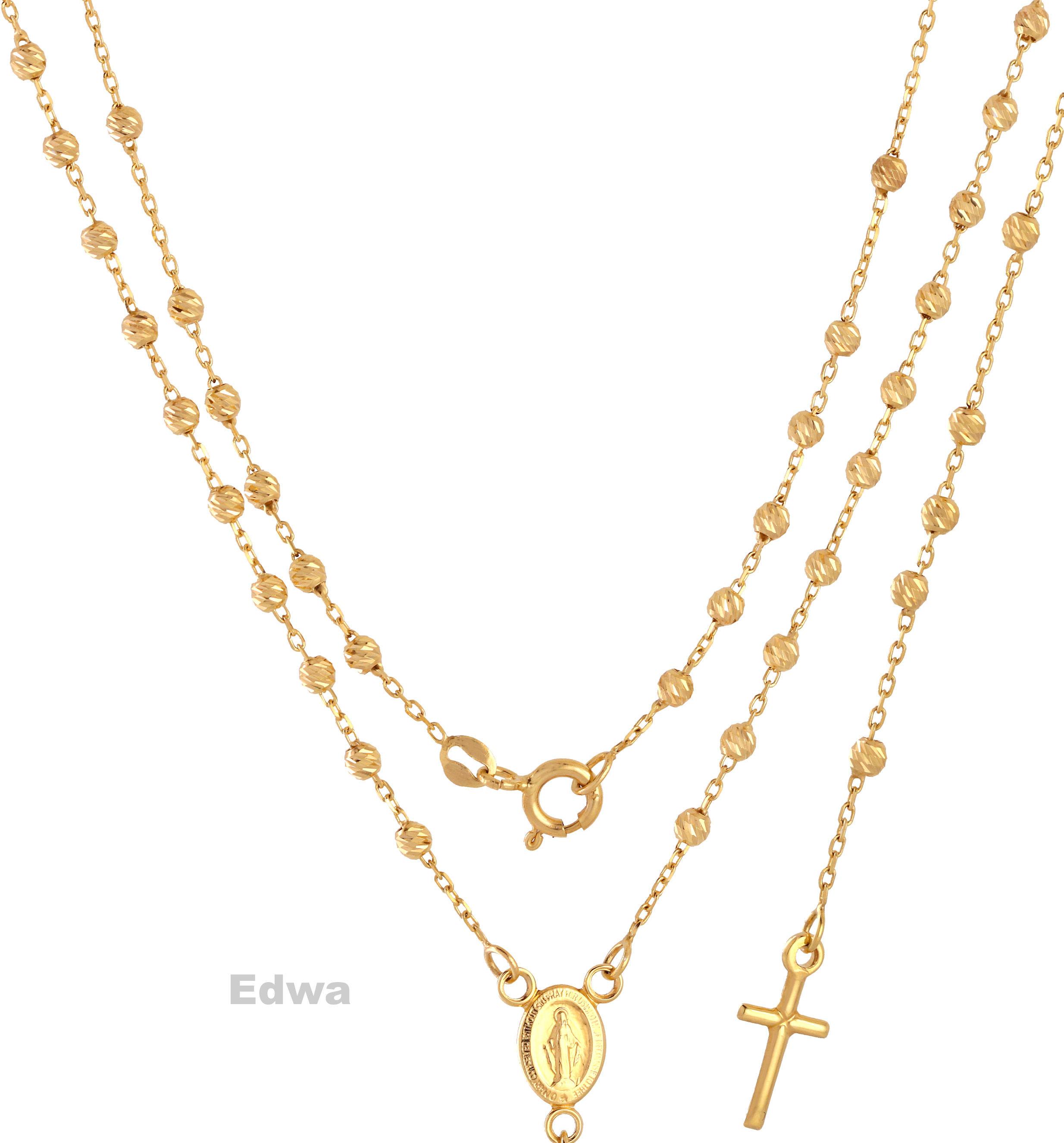 Łańcuszek Różaniec złoty pr.585 44-52 cm