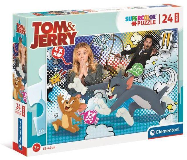 Puzzle 24 maxi super color Tom&Jerry 24212 - Clementoni