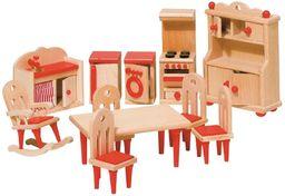 Goki 51951 - kuchnia, 11-częściowy, meble do domku dla lalek
