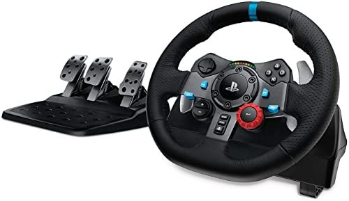 Logitech G29 Driving Force Racing Wheel for PlayStation 4, PlayStation 3 and PC, Kierownica wyścigowa do konsoli PlayStation i komputera, PlayStation 5/PlayStation 4/PlayStation 3/PC - Czarny