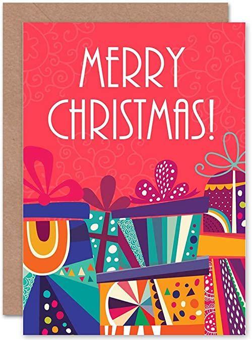 Wee Blue Coo Kartka świąteczna Boże Narodzenie skarpeta na prezent