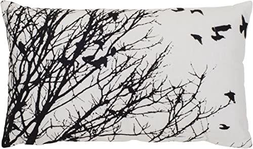 Lifestyle BIRDS 1 poduszka z wypełnieniem 30x50 czarna/biała