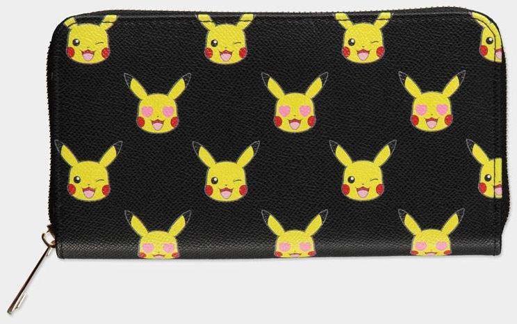 Difuzed GW234042POK Pokemon-Pikachu nadruk na całej powierzchni zamek błyskawiczny wokół portfela