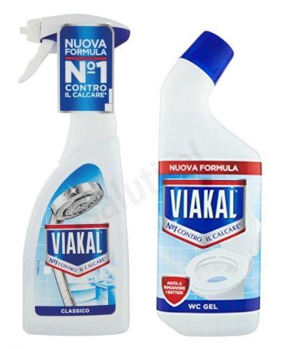 Zestaw Viakal Blu - odkamieniacz w sprayu oraz żel do WC