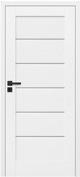 Drzwi bezprzylgowe pełne Toreno 70 prawe kredowo-białe