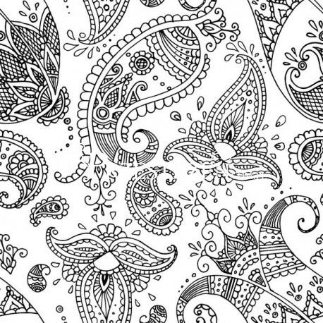 SERWETKI PAPIEROWE - Ornamenty Paisley White Black