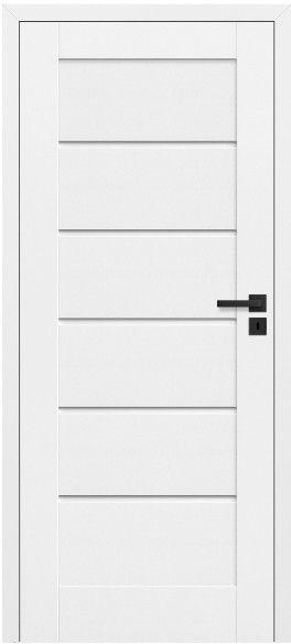 Drzwi bezprzylgowe pełne Toreno 80 lewe kredowo-białe
