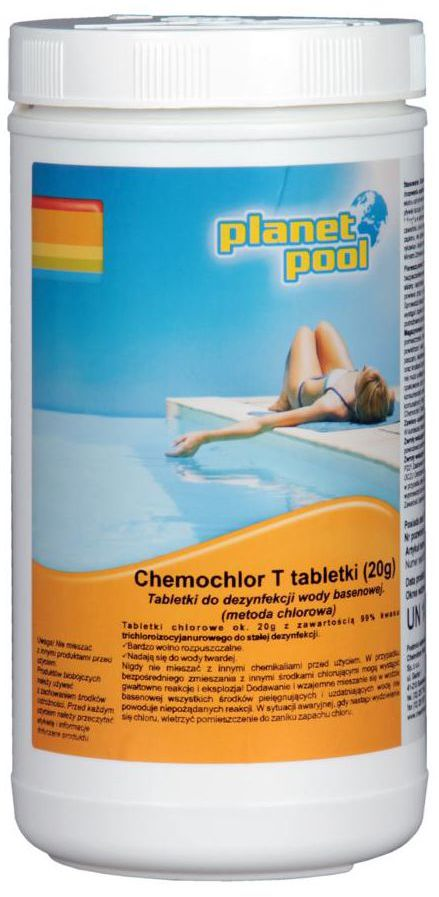 Tabletki do basenu 20 g / 1 kg PLANET POOL CHEMOCHLOR T