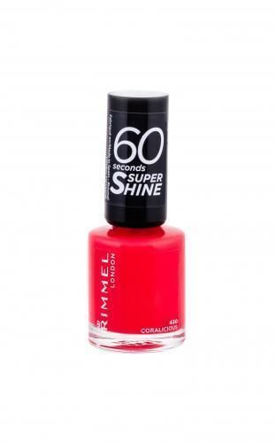 Rimmel London 60 Seconds Super Shine lakier do paznokci 8 ml dla kobiet 430 Coralicious