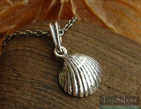 Adriatic - srebrny wisiorek muszelka
