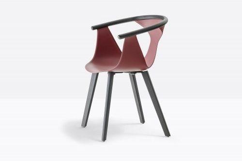 Pedrali Krzesło Fox 3725 ML Bordo, Antracyt
