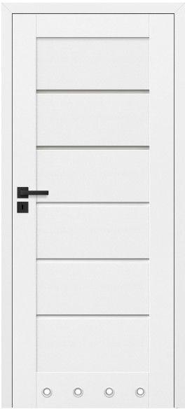 Drzwi bezprzylgowe z podcięciem Toreno 70 prawe kredowo-białe