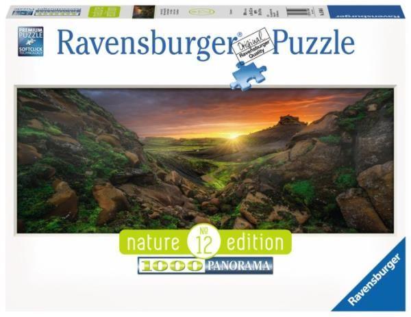 Puzzle 1000 elementów Panorama Słonce nad Islandią (GXP-764203)