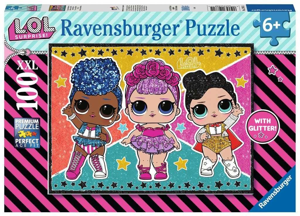 Ravensburger Puzzle 12881 Lol Surprise. Gwiazdy I Gwiazdki 100 Elementów Puzzle Dla Dzieci (12881) Unikalne Elementy, Technologia Softclick