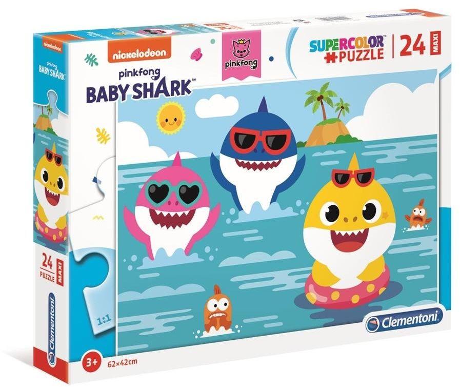 Puzzle Supercolor 24 Maxi Baby Shark - 28519