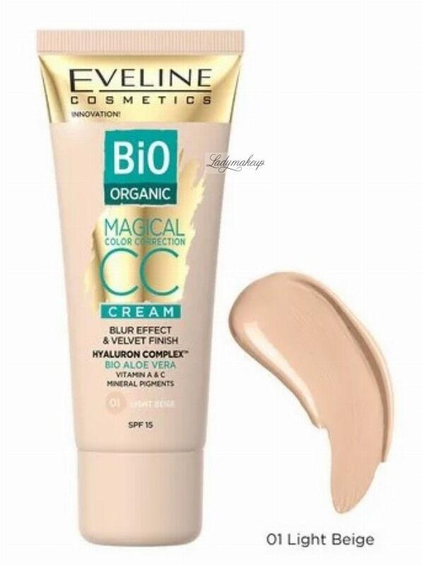 Eveline Cosmetics - Bio Organic - MAGICAL CC CREAM - Krem koloryzujący CC z mineralnymi pigmentami - 30 ml - 01 LIGHT BEIGE