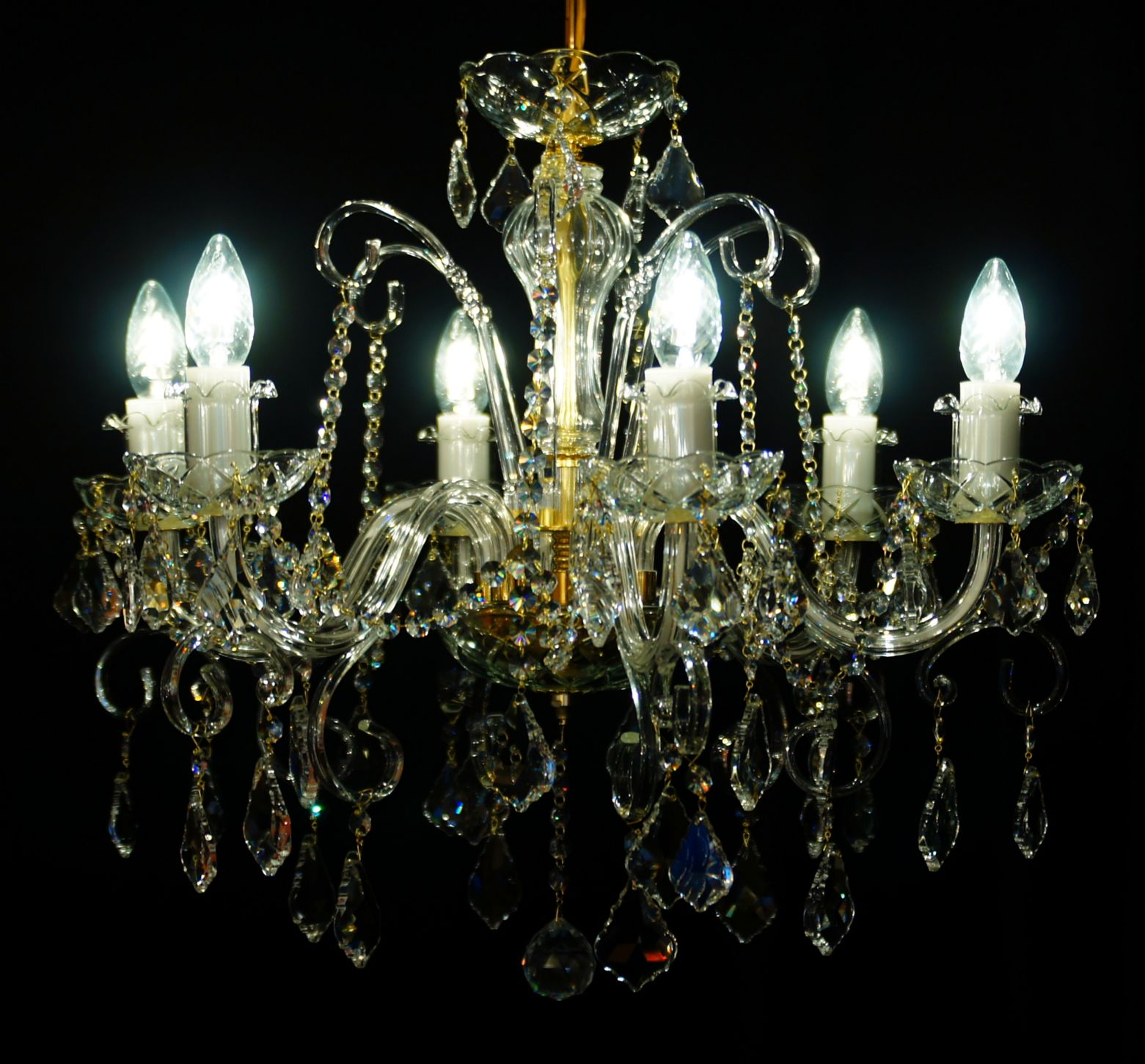 Żyrandol kryształowy 6-ramienny - Elite Bohemia