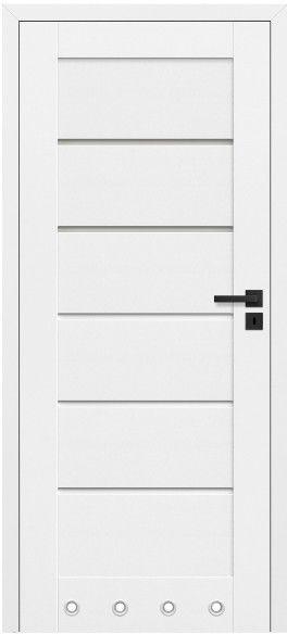 Drzwi bezprzylgowe z podcięciem Toreno 80 lewe kredowo-białe