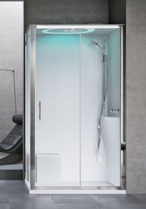 Novellini Eon kabina prostokątna z hydromasażem 120x90 prawa EON2P290DM1F-1AK