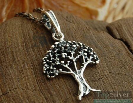 Drzewko szczęścia - srebrny wisiorek