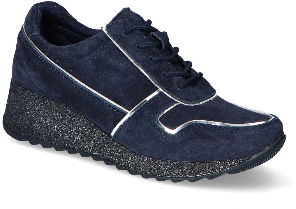 Sneakersy Filippo DP943/20NV Granatowe zamsz
