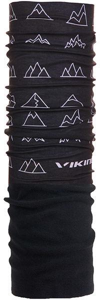 VIKING Gore Windstopper chusta wielofunkcyjna 8228 czarny - biała grafika,5901115754602