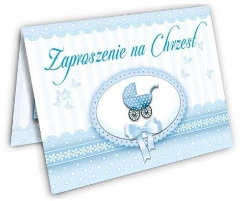 Zaproszenie na Chrzest Chłopca zx4100