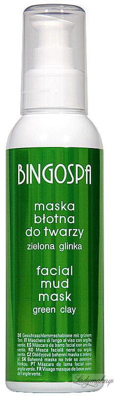 BINGOSPA - Maska błotna do twarzy z zieloną glinką - 150g