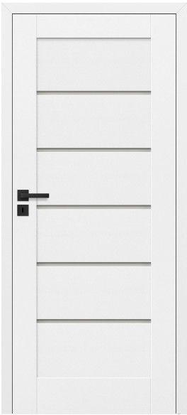 Drzwi bezprzylgowe pokojowe Toreno 70 prawe kredowo-białe
