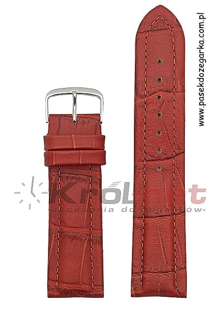 Pasek 260/03/24 - brązowo-czerwony