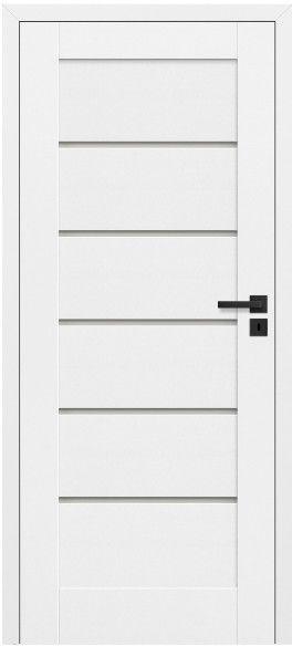 Drzwi bezprzylgowe pokojowe Toreno 80 lewe kredowo-białe