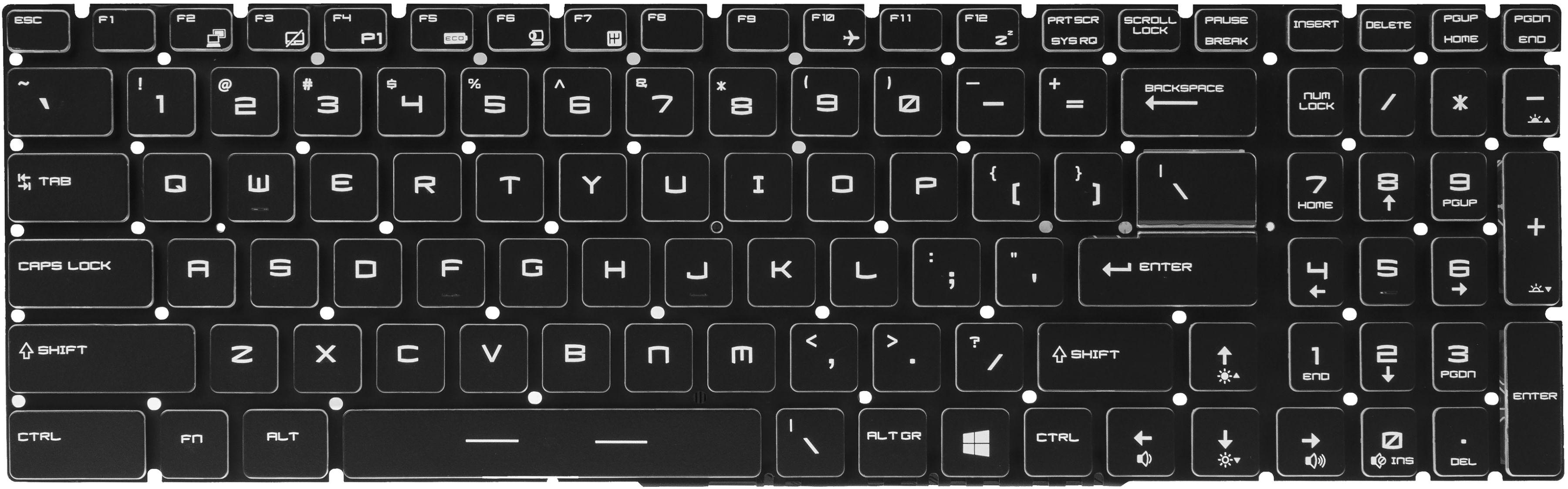 Klawiatura do Laptopa MSI GE62 GL62 GE72 WS60 z Podświetleniem