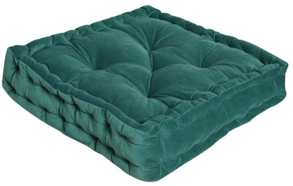 Poduszka na podłogę Loic zielona 40 x 40 x 10 cm Inspire