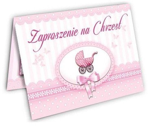 Zaproszenie na Chrzest Dziewczynki zx4200