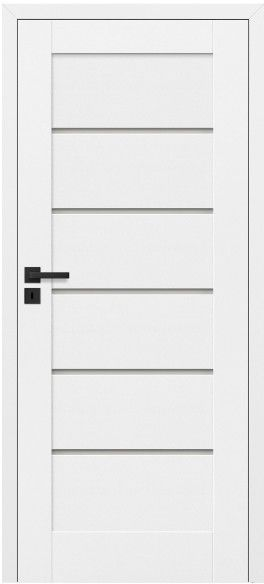 Drzwi bezprzylgowe pokojowe Toreno 80 prawe kredowo-białe