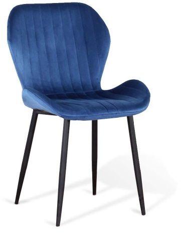 Krzesło tapicerowane niebieskie  ART223C
