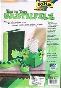 Filc dekoracyjny zielony (10szt) Mix FOLIA PAPER ZAKŁADKA DO KSIĄŻEK GRATIS DO KAŻDEGO ZAMÓWIENIA