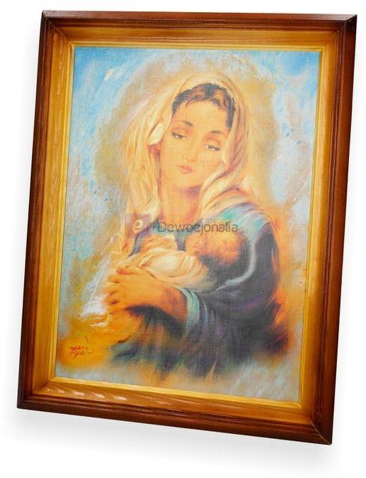 Obraz M.B z dzieciątkiem (portret) 47x37