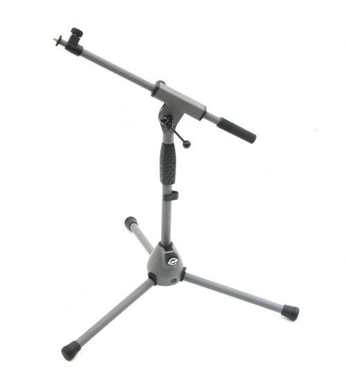 K&M 25900-370-87 statyw mikrofonowy średni, szary (soft touch)