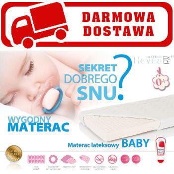 Materac lateksowy do łóżeczka BABY