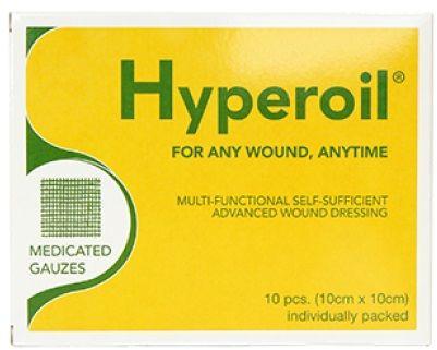 HyperOil Nasączone opatrunki olejem 10 szt. 10 x 10